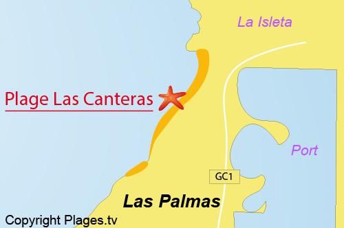 Plage de las canteras las palmas de gran canaria grande canarie canaries espagne avis - Tv chat las palmas ...