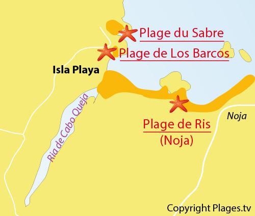 Carte de Los Barcos à Isla
