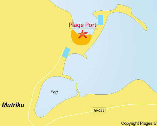 Carte de la plage du Port de Mutriku - Espagne