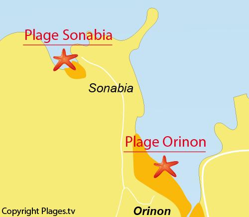 Carte de la plage de Sonabia en Espagne