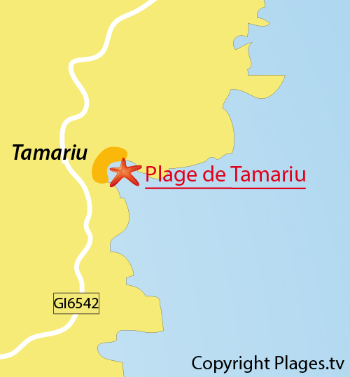 Carte de la plage de Tamariu à Palafrugell