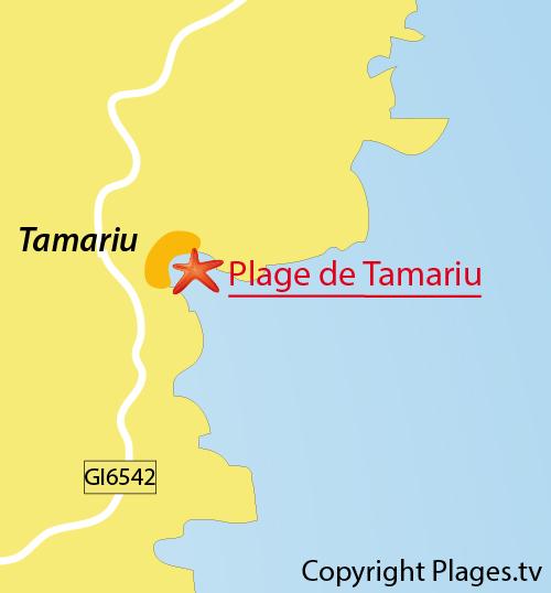 Tamariu Beach In Palafrugell Girona Spain
