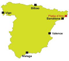 Localisation de Platja d'Aro en Espagne