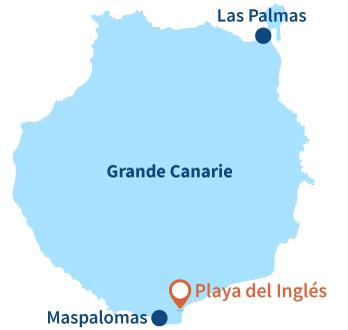 Localisation de Playa del Inglés à Grande Canarie