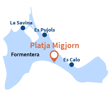 Localisation de Platja de Migjorn à Formentera - Ibiza