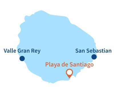 Localisation de Playa de Santiago à la Gomera - Canaries
