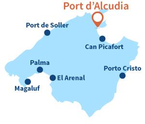 Localisation de Port d'Alcudia à Majorque
