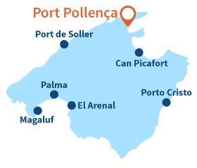 Où se trouve Port Pollença à Majorque - Baléares