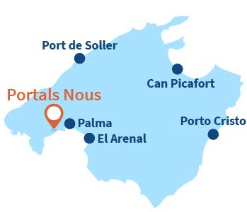 Localisation de Portals Nous à Majorque