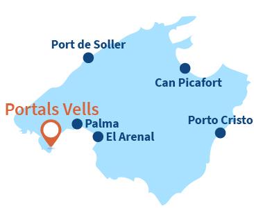 Localisation de Portals Vells à Majorque