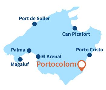 Localisation de Portocolom à Majorque