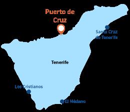 Localisation de Puerto de la Cruz à Tenerife - Les Canaries