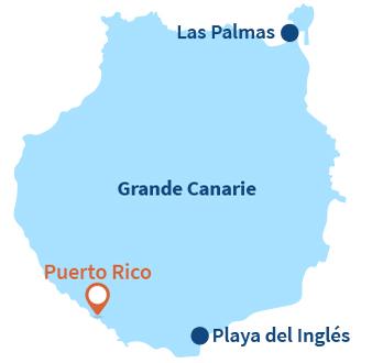 Localisation de Puerto Rico à Gran Canaria