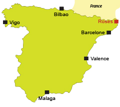 Map of Roses in Spain