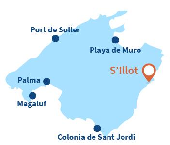 Localisation de S'Illot à Majorque