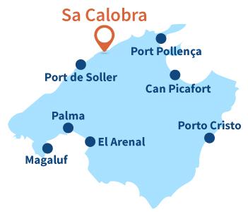 Carte de Sa Calobra à Majorque