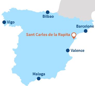 Où se trouve Sant Carles de la Rapita en Espagne