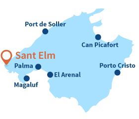Localisation de Sant Elm à Majorque aux Baléares