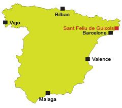 Localisation de Sant Feliu de Guixols en Espagne
