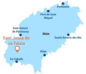 Map of Sant Josep de Sa Talaia - Ibiza