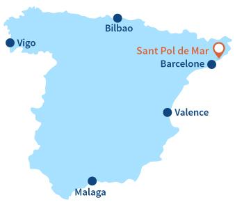 Localisation de Sant Pol de Mar en Espagne