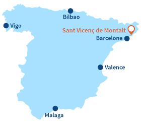 Carte de Sant Vicenç de Montalt en Espagne