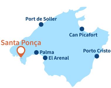 Localisation de Santa Ponça à Majorque