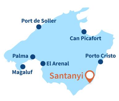 Localisation de Santanyi à Majorque