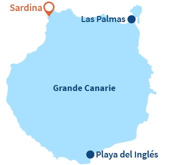 Localisation de Sardina à Gran Canaria