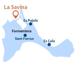 Localisation de La Savina à Formentera