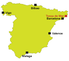 Localisation de Tossa de Mar en Espagne