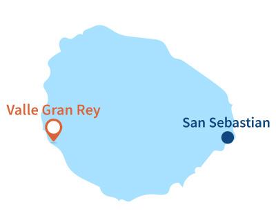 Localisation de Valle Gran Rey à La Gomera - Canaries