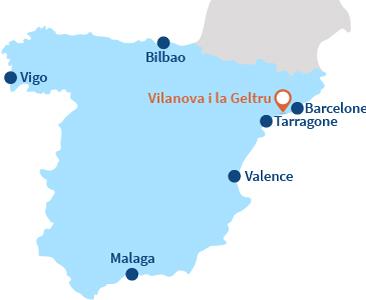 Localisation de Vilanova i la Geltru en Espagne