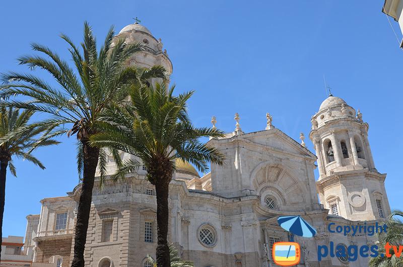 Cathédrale de Cadix dans le sud de l'Espagne