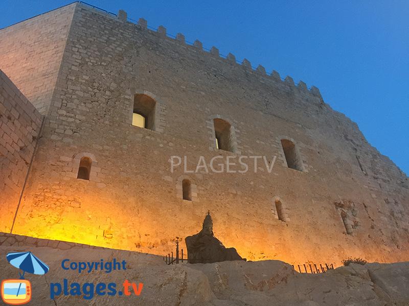 Chateau de Peniscola en Espagne