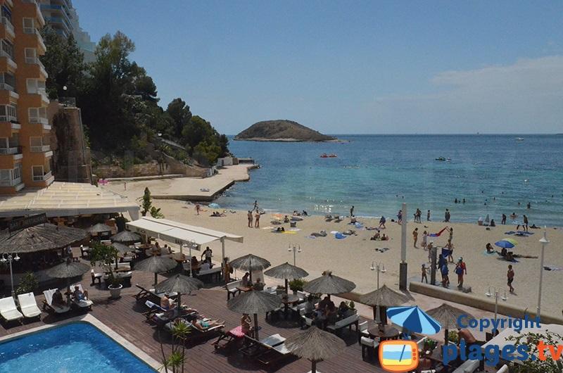 Hôtel au bord de la plage de Magaluf