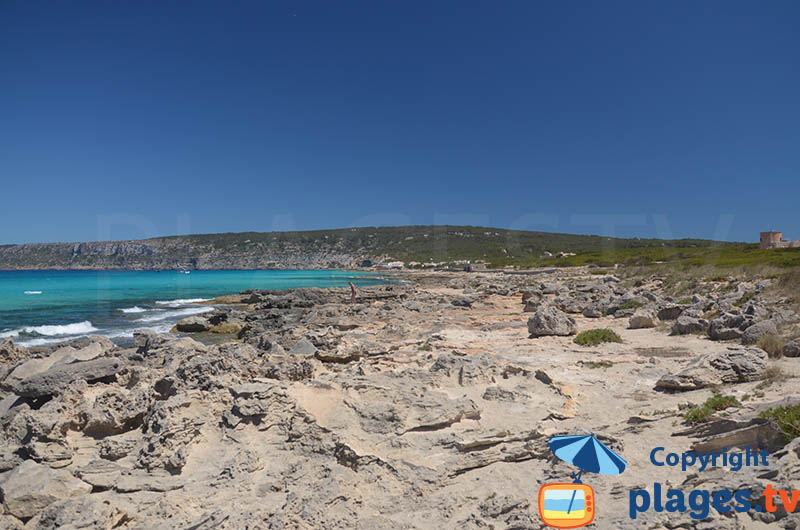 Côte nord de Formentera autour d'Es Calo