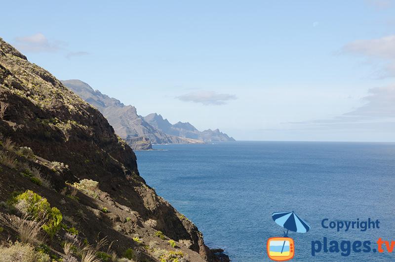 Côte ouest de Gran Canaria avec des falaises