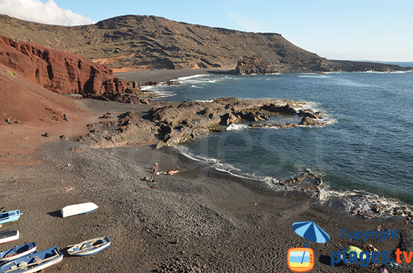 Swimming in El Golfo in Lanzarote