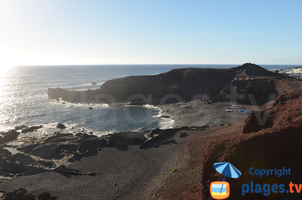 Black sand cove at El Golfo - Lanzarote