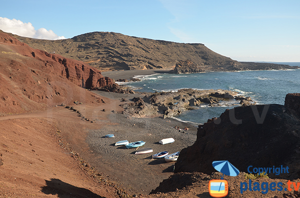 Creek of El Golfo in Lanzarote