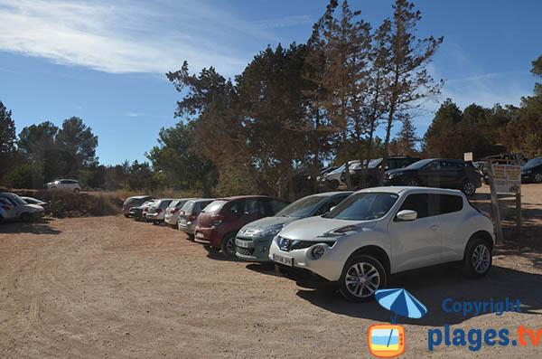 Parking de la plage Es Bol Nou à Ibiza