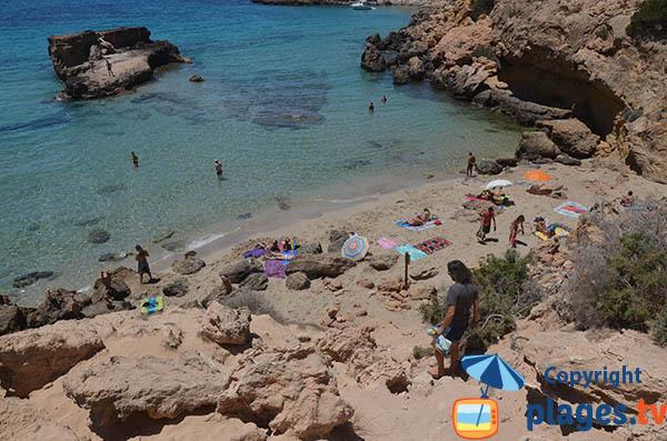 Accès à la crique des Pêcheurs - Ibiza