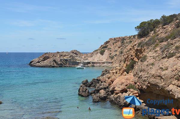 Photo de la crique des Pêcheurs à  Sant Josep de sa Talaia - Ibiza