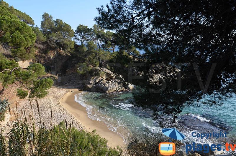 Une belle crique à Platja d'Aro en Espagne à proximité de la France