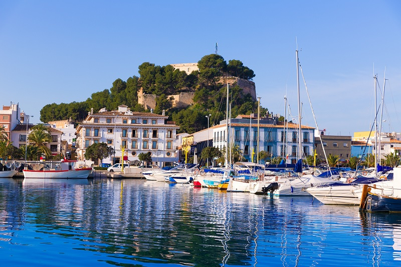 Denia : son port et son chateau