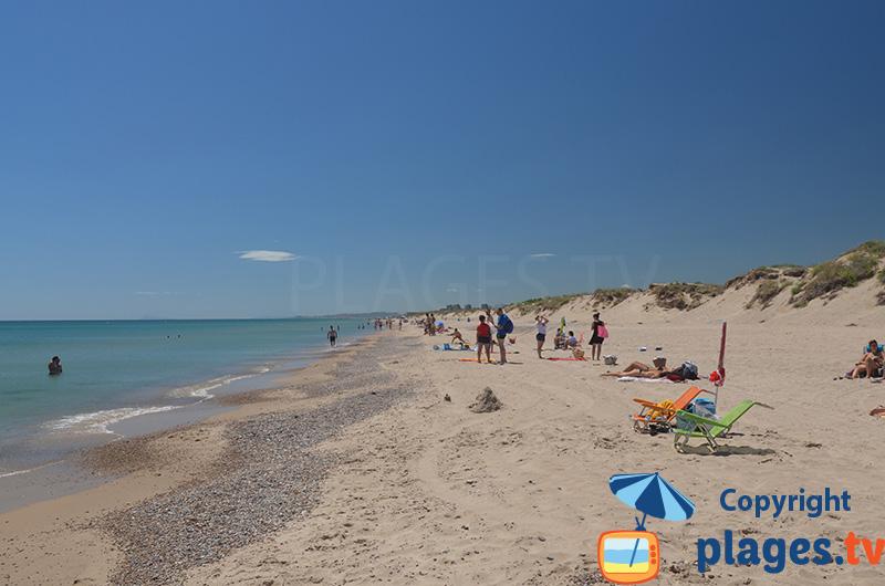 Belle plage au sud de Valence - Espagne