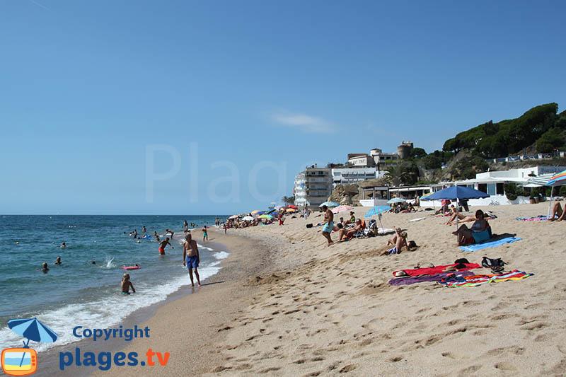 El Morer : la plage de St Pol Mar en Espagne