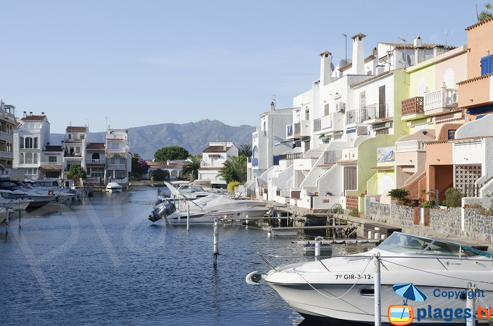 Canals in Empuriabrava - Spain