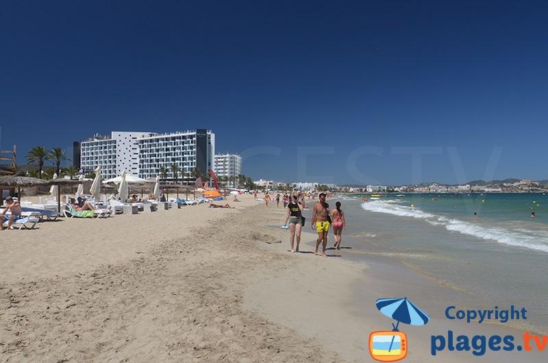En Bossa beach in Ibiza